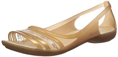 crocs Damen Isabellafltsndl Offene Sandalen mit Keilabsatz