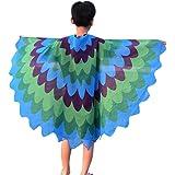 Quaan Halloween Children Kids Scale Print Wings shawl Scarves poncho Costume Accessory poison cute kostüme vampir dracula mönchskutte umhang schwarz horror kostüm vampir umhang kinder