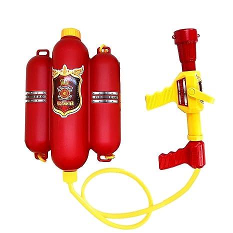 QIANGUANG® Bombero Mochila Pistola de Agua Blaster Tirador de Agua Juguetes de Playa y Piscina