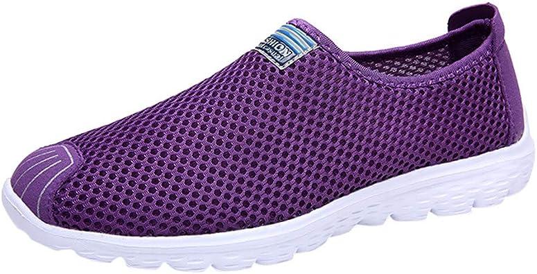 Zapatillas de Deporte Blancas para Mujer Net Summer Sports Running ...