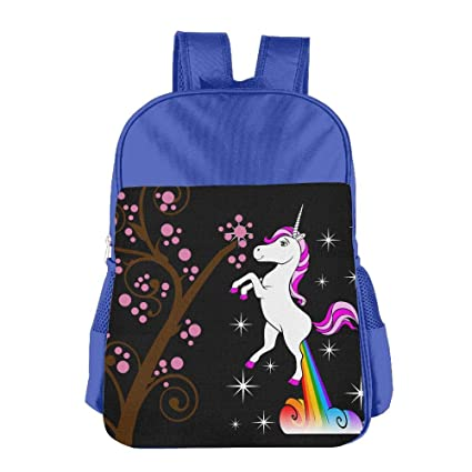 0d147c0166 Image Unavailable. Image not available for. Color  ZHIYANG Lightweight Childrens  Backpacks Unicorn Farting Rainbow Kids Snack Backpack School ...