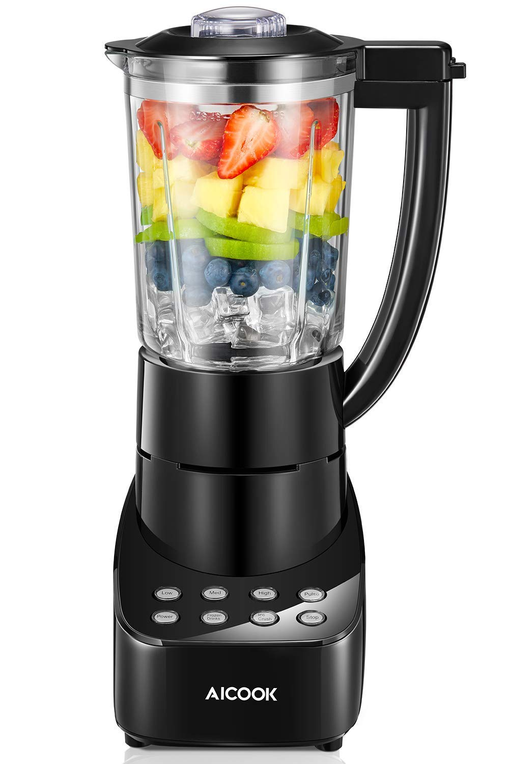 Blender 5 Speed Smoothie Blender Make Smoothies, Ice and Frozen Fruit Drinks, 48oz Glass Jar Smoothie Maker with 700W and Stainless Steel Blade for Efficient Crush, Dishwasher Safe by AICOOK