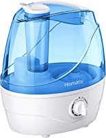 Homasy VicTsing Cool Mist Humidifiers, Quiet Ultrasonic Humidifiers for Bedroom Baby, Easy to Clean Air Humidifier, Last...