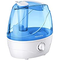 Homasy VicTsing Cool Mist Humidifiers, Quiet Ultrasonic Humidifiers for Bedroom Baby, Easy to Clean Air Humidifier, Last Up to 24 Hours, Auto Shut-Off, Anti-Slip Handle, Adjustable Mist Output