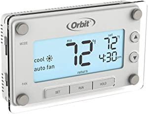 Orbit 2-Pack 83521 Clear Comfort Programmable Thermostat with Large, Easy-to-Read Display