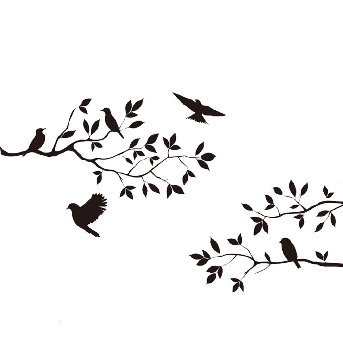 Changeshopping Tree Bird Removable Wall Sticker Vinyl Art Decal Mural Home DIY Decor changeshopping325