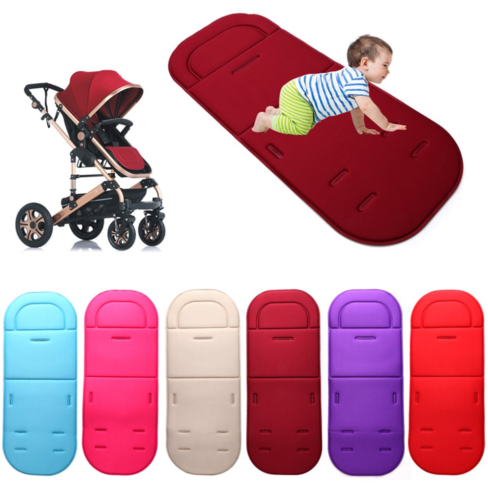 Blue Universal Baby Seat Liner for Stroller Pram Pushchair Car Comfortable Cushion Mat Breathable Infant Seat Pad