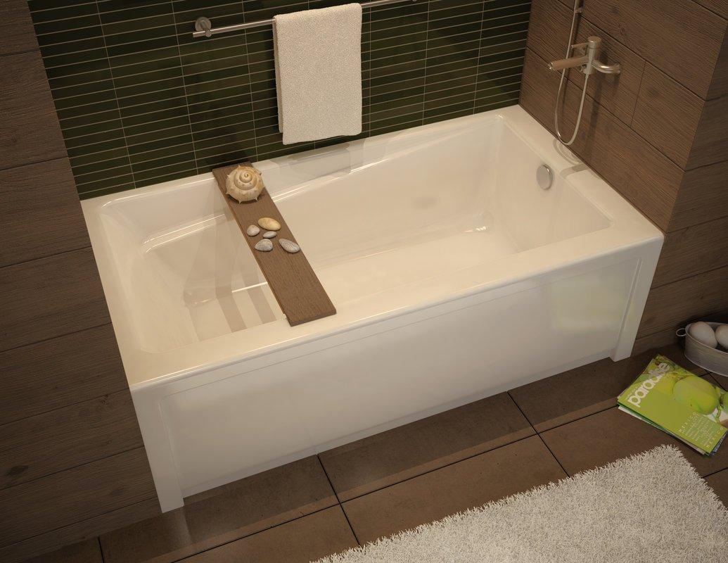 Maax 105519-000-001-103 White Professional Exhibit 6030 Soaking Tub ...
