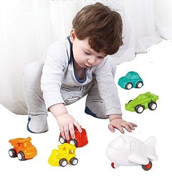 FLORMOON Juguetes para niños pequeños Juguete Educativo Push Go Baby -6 Pack de Juguetes para Ruedas ...