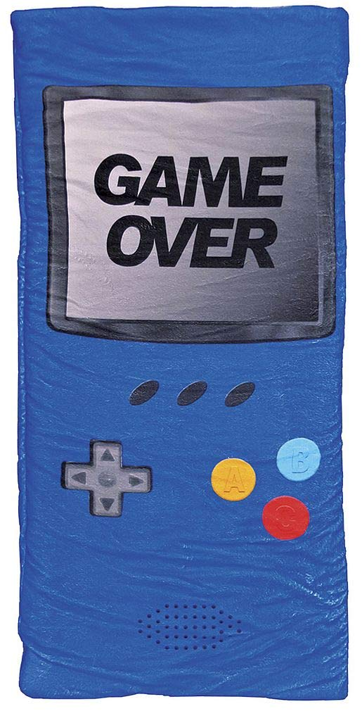 iscream 'Game Over' 57'' x 28.5'' Faux Sherpa-Lined Silky Silky Fleece Zippered Sleeping Bag