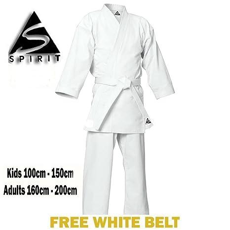 Karate 9oz 100% Cotton White Karate Uniform Suit Gi  Amazon.co.uk  Sports    Outdoors afc10cca96973