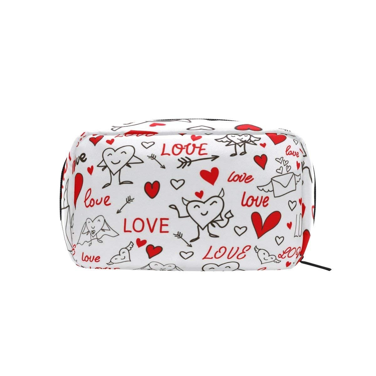 Seamless Love And Heart Makeup Case Bag Appropriate Capacity Portable Beauty Girl And Women Cosmetic Bags Storage Bags for Travel by Sunshine (Image #3)