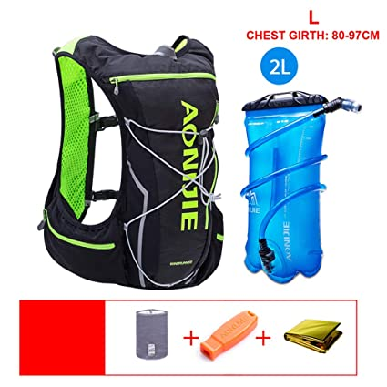 XUSHSHBA Outdoor Bags Running Vest Bag Hydration Pack + Water Bag Bladder Hiking Climbing Marathon Cycling