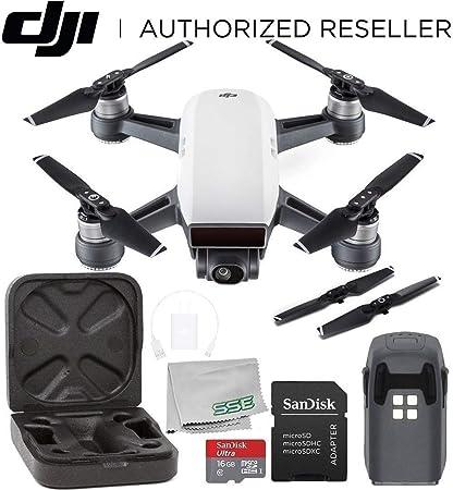 Dji Spark Drone >> Amazon Com Dji Spark Portable Mini Drone Quadcopter Starters Bundle