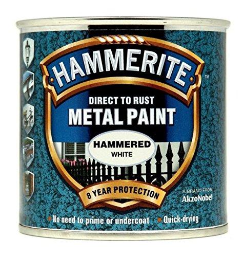 Hammerite 5084836 Metal Paint: Hammered White 250Ml