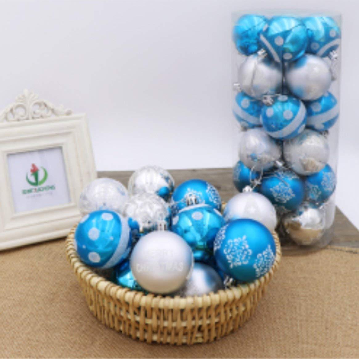 Delicacydex Pallina di Natale Palla Leggera 6cm24 Palla Dipinta Confezione Palla Albero di Natale Decorazione barile