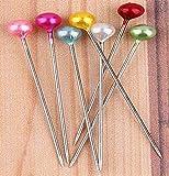 700pc Pearls Headpins P-8 1-1/2'' Round Head BA302