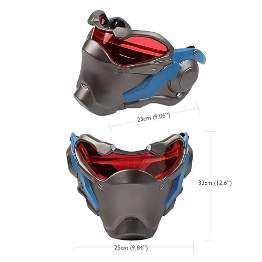 Overwatch OW Máscara 76 Soldado Cosplay Prop Por encargo de Halloween Navidad: Amazon.es: Ropa y accesorios