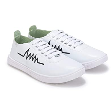 336a90c697653 Stepfit Men's White Heartbeat Low-top Classic Water Resistant Perfect  Casual Sneakers