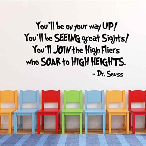 Amazon.com: Dr Seuss Wall Decal - Graduation Gift - You\'ll Be On ...