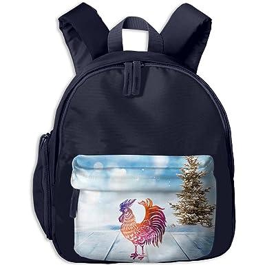 a49d301efa Red Chicken Graphic 3D Print Girls Children Bookbags Bag School Backpack