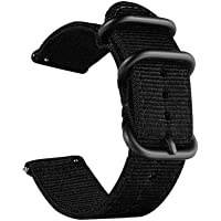 CNYMANY Universele ballistische horlogeband, nylon canvas geweven lus vervanging riem polsband gesp sluiting verstelbare…