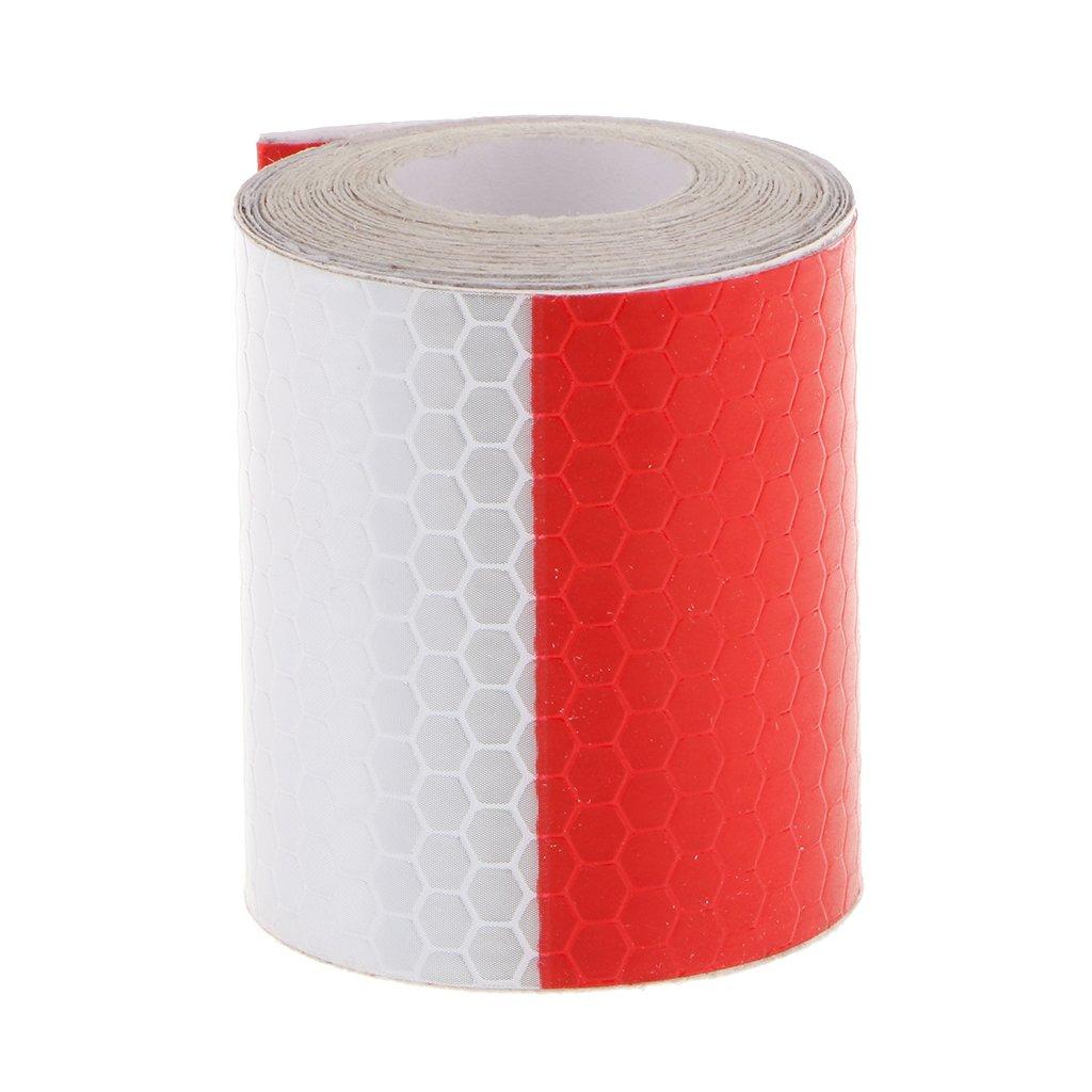 Rouge Blanc R/éfl/échissant Avertissement De S/écurit/é Autocollant Ruban Conspicuity Pour Le Camion De Voiture