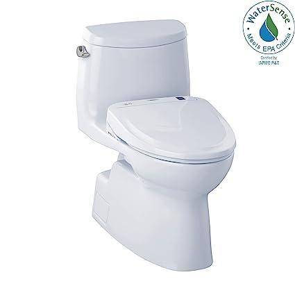 Tremendous Toto Mw614584Cefg01 Washlet Carlyle Ii One Piece Elongated 1 28 Gpf Toilet And Washlet S350E Bidet Seat Cotton White Ibusinesslaw Wood Chair Design Ideas Ibusinesslaworg