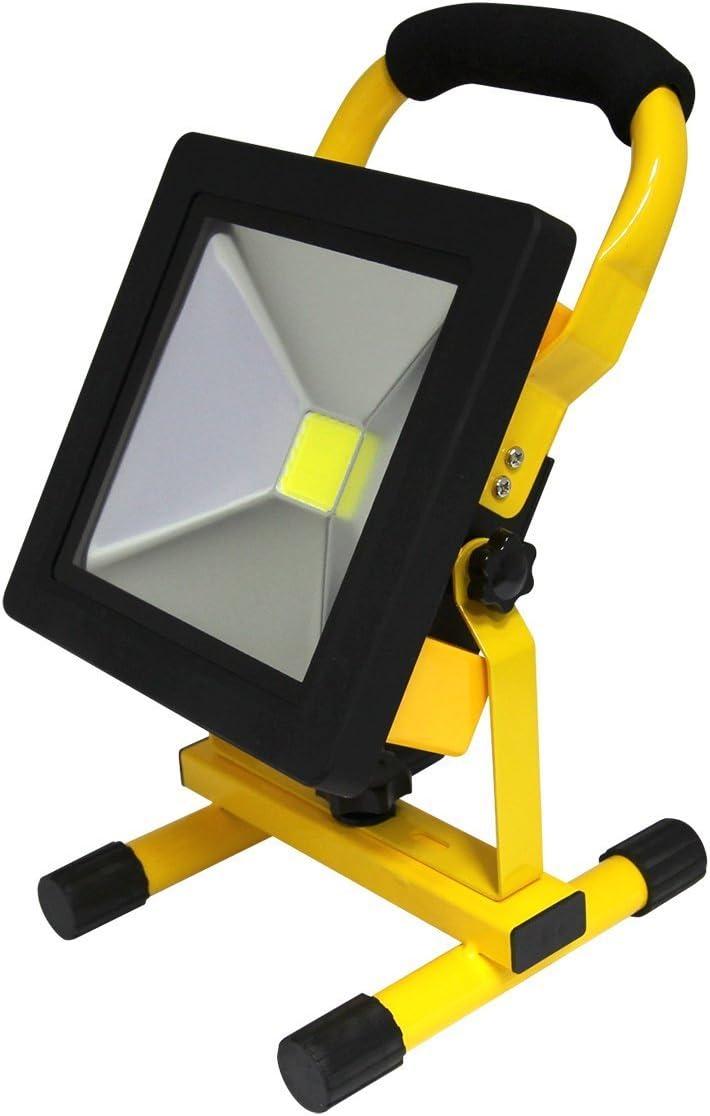 Solar portable rechargeable led flood light outdoor garden work spot lamp PL