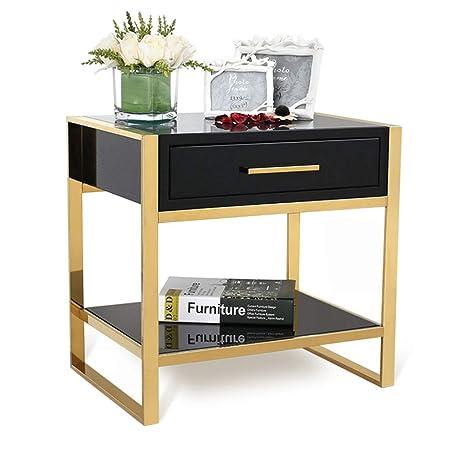 Amazon.com: Bedside table Nightstands Simple Fiberboard ...