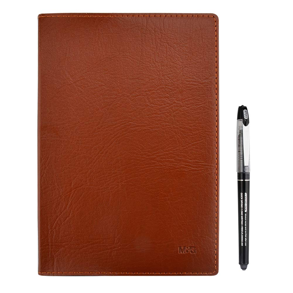 Journal Travel Diary Notebook with Quality Roller Ball Pen, PU Leather Hardcover Writing Drafting Notebook Ideal for Home, Office and School Use -Lined Page, 240 Pages, Size: 5'' X 8.3'', A5, Brown