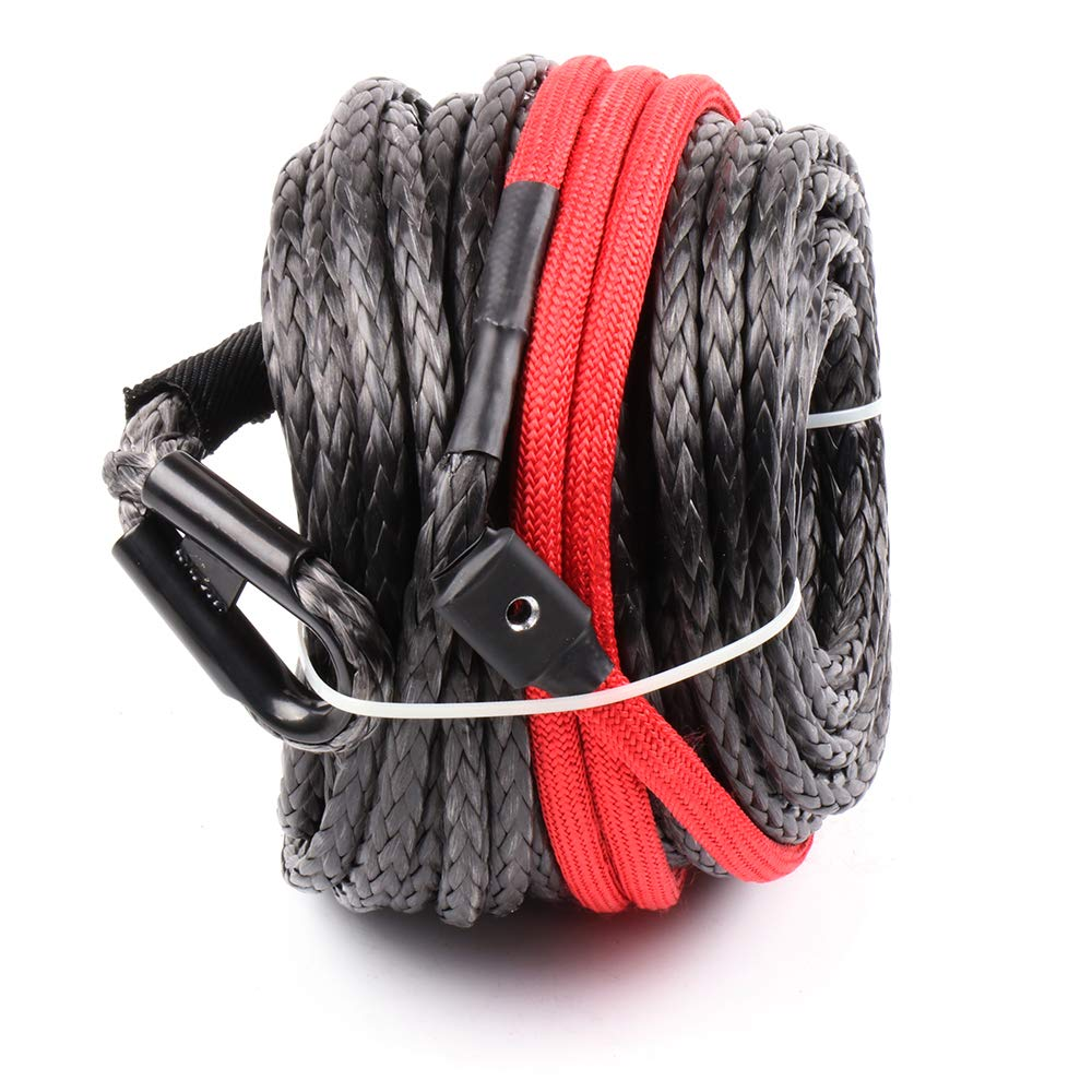 cciyu 3//8 Synthetic Winch Rope Line Cable 20,500 LBs w//Protective Sleeve ATV UTV Truck Boat Ramsey