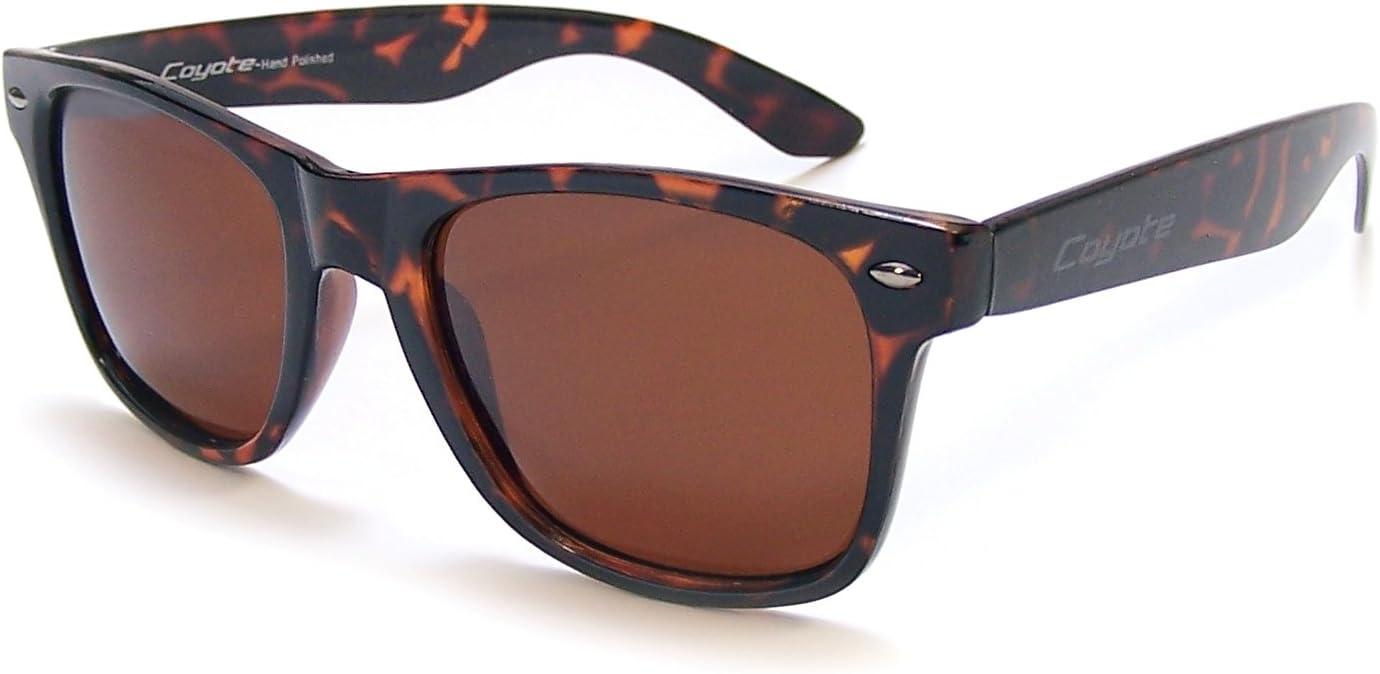 Coyote Eyewear P-23 Polarized Wayfarer Style Sunglasses