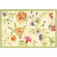 C&F Home Priscilla Hooked Rug, 2 x 3, Yellow