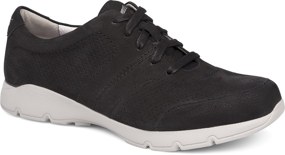 Dansko Alberta Collection Women's Alissa Fashion Sneaker B072WKNKK2 42 M EU|Black Milled Nubuck
