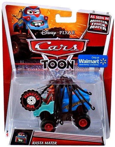 Disney Pixar Cars Toon Monster Truck Mater 1:55 Scale Rasta Mater (Monster Disney Truck Cars)