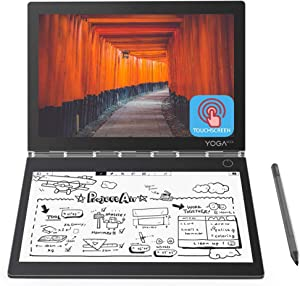 "2019 Newest Lenovo Yoga Book C930 10.8"" Dual-Display QHD 2560 x 1600 IPS & FHD 1920 x 1080 E Ink Mobius Touchscreen Light Weight Active Pen Intel Core i5-7Y54 Up to 3.2GHz 4G RAM 128G M2 SSD Grey"