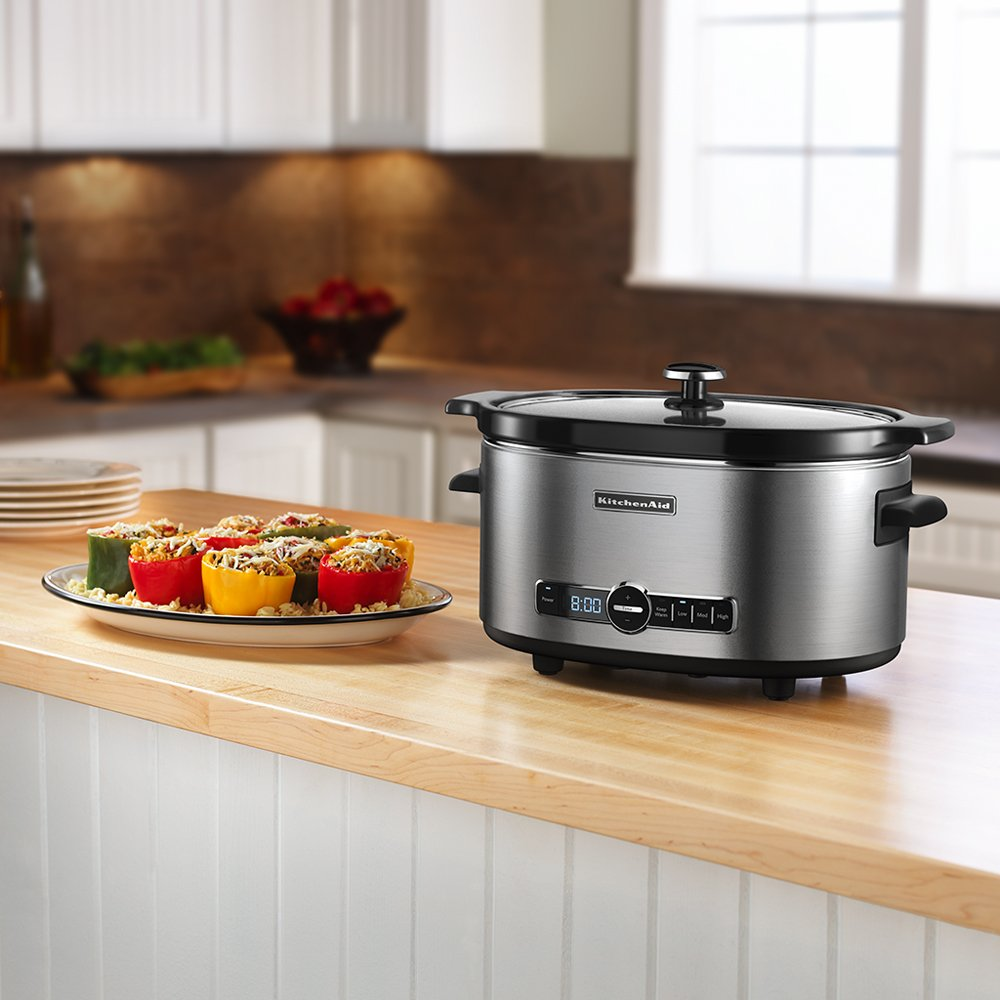 6-Qt. Slow Cooker with Standard Lid - Stainless Steel