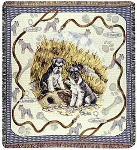 Simply Home Schnauzer Dog Tapestry Throw By Artist Pat Lehmkuhl 50