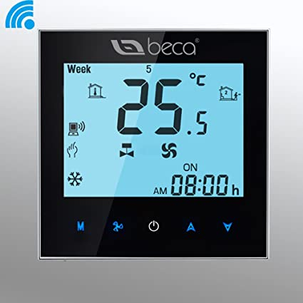 BECA 95~240VAC Two Pipe LCD Digital Touch Screen 5+2 Weekly Programmable Fan