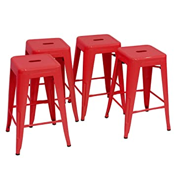 Changjie Furniture 24u0027u0027 High Backless Metal Bar Stool For Indoor Outdoor Kitchen  Counter