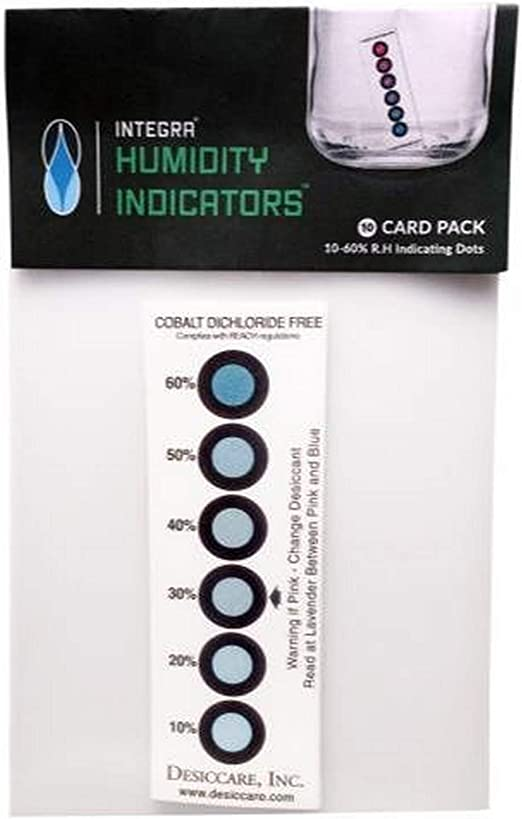 10x Régulateur d/'humidité Integra™ Boost Humidity Indicators 10/% - 60/% RH