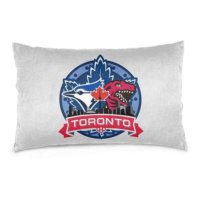 Amazon.com: Fundas de almohada blandas Toronto Bl-ue Jays ...