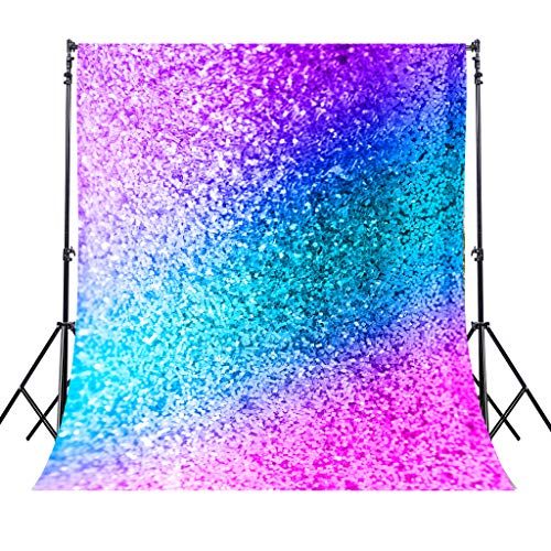 Riyidecor YouTube Backdrop Not Glitter Colorful Photography Background Teal Pink 5X7 Feet Newborn Decorations Birthday Wedding Baby Shower Props Photo Shoot Blush Vinyl Cloth]()