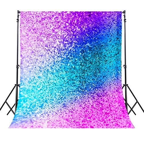 Riyidecor YouTubeBackdrop (Not Glitter) Colorful Photography Background Teal Pink 5X7ft Newborn Decorations Birthday Wedding Baby Shower Props Photo Shoot Blush Vinyl -