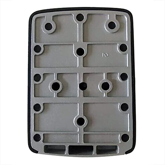 nuzamas Key Lock caja grande caja de almacenamiento, Capacidad para hasta 5 teclas para exterior llave maestra con estuche estanco al agua montado en la ...