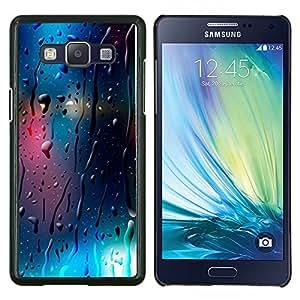 Stuss Case / Funda Carcasa protectora - Vidrio reflectante Luces de Blur Night City - Samsung Galaxy A5 A5000