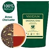 Hoja original india Masala Chai - 100 tazas, 200 gramos - Mezcla perfecta de té negro, canela, cardamomo, clavo y pimienta negra - Receta para la antigua casa india - De la India