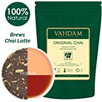 India's Original Masala Chai Tea Loose Leaf (100 Cups) 200g | 100% Natural Ingredients | Black Tea, Cinnamon, Cardamom, Cloves, Pepper - Loose Leaf Tea, Spiced Chai Tea Leaves - Brew Chai Tea Latte