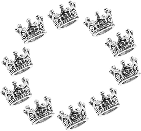 10 Stück Metallperlen Krone Perlen Anhänger Zwischenperlen